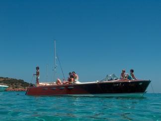 Prachtige houten motorboot